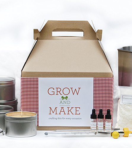 Beeswax Candle Making Kit with Tin Containers and Natural Bee Wax