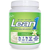 Lean 1 (Vanilla, 15 Servings): Fat-Burning Whey Protein Isolate Meal Replacement, Protein Shake & Appetite Suppressant by Nutrition 53