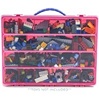 Building Bricks Case, Toy Storage Carrying Box. Figures...