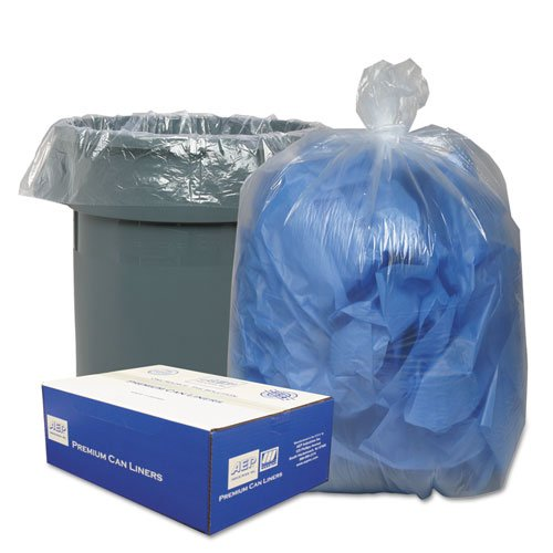 o Webster o - Classic Can Liners, Hexene Resin, 56 gallon, .8mil, 43 x 48, Clear, 100/carton