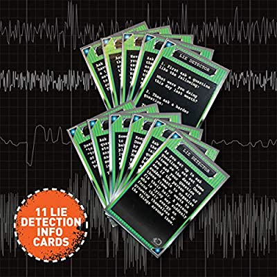 Discovery Kids Electronic Lie Detector Portable Spy Kit with 11 Liar Detection Cards, Learn the Signs of Deception like a Secret Agent, Machine Detects Your Sweat, Imaginative Play and Exploration Toy: Toys & Games