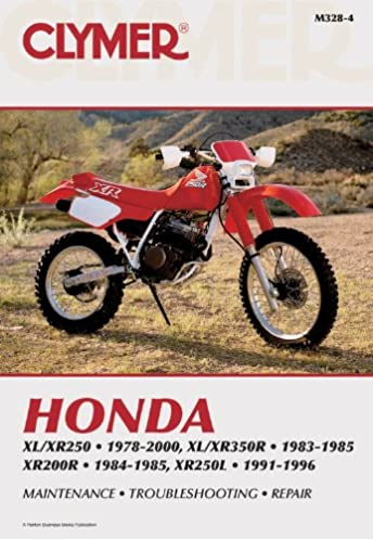 honda xl xr250 1978 2000 xl xr350r 1983 1985 xr200r clymer rh amazon com honda xr 200 service manual pdf honda xr200 service manual free
