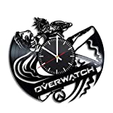 Overwatch Vinyl Clock - Video Game Vinyl Records Wall Art Room Decor Handmade Decoration Party Supplies Original Present For Fans - Vintage And Modern Style