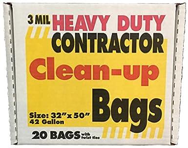 Amazon.com: Bolsas de basura resistentes de 42 galones para ...
