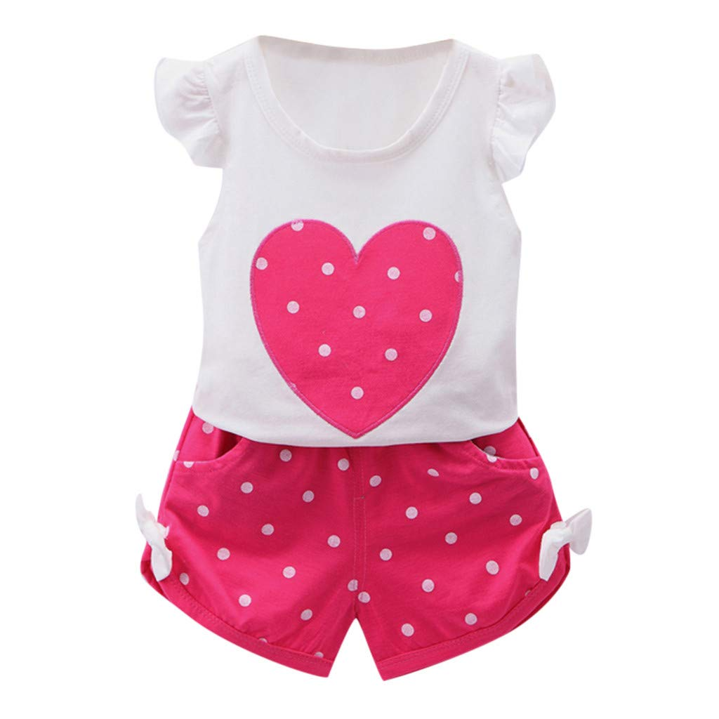 Amazon.com: Sunhusing Childrens Flying Sleeve Love Heart Polka Dot ...