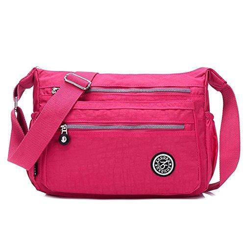 poches Sac rose ABLE Messenger à 4 4 Cusual Bandoulière Multi L'eau Sac Imperméable rose Femme Femme qOYxrOX