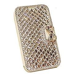 Handmade Luxury Rhinestone Leather Purse for Samsung Galaxy Note 5