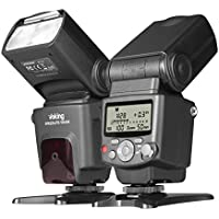 Voking VK430 I TTL Speedlite LCD Display Shoe Mount Flash for Nikon Digital DSLR Cameras with Standard Stand