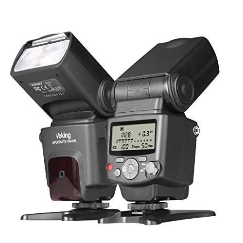 I-ttl Off Camera Flash (Voking VK430 I TTL Speedlite LCD Display Shoe Mount Flash for Nikon Digital DSLR Cameras with Standard Stand)