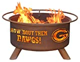 Georgia Bulldogs UGA Portable Steel Fire Pit Grill For Sale
