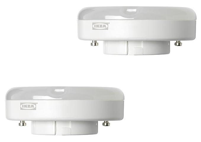 IKEA RYET - Bombillas LED GX53 de 600 lúmenes, ahorro de energía, intensidad no