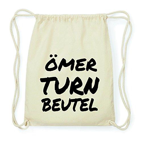 JOllify ÖMER Hipster Turnbeutel Tasche Rucksack aus Baumwolle - Farbe: natur Design: Turnbeutel