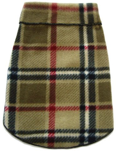 I See Spot's Dog Pet Fleece Pullover, Sweater, Blanket Plaid, Large, Camel by I See Spot