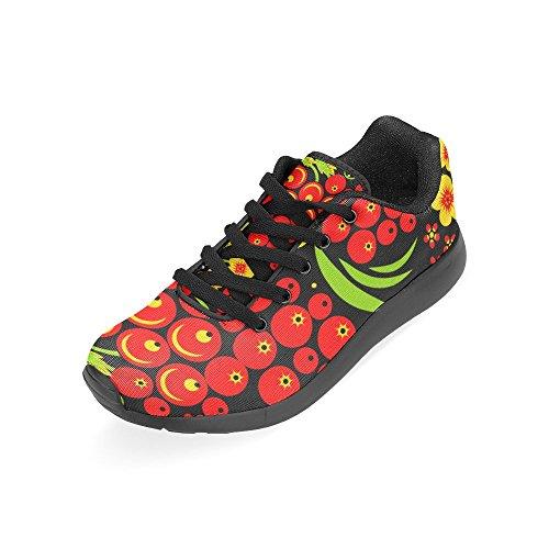 Scarpe Da Corsa Da Donna Winterprint Jogging Leggero Sportivo A Piedi Sneakers Atletiche Rosso Ciliegia