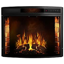 Regal Flame Curved Ventless Heater Electric Fireplace Insert Better than Wood Fireplaces, Gas Logs, Wall Mounted, Log Sets, Gas, Space Heaters, Propane, Gel, Ethanol, Tabletop Fireplaces from Regal Flame