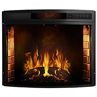 Regal Flame Curved Ventless Heater Electric Fireplace Insert Better than Wood Fireplaces, Gas Logs, Wall Mounted, Log Sets, Gas, Space Heaters, Propane, Gel, Ethanol, Tabletop Fireplaces