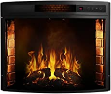 Regal Flame 33 Inch Curved Ventless Heater Electric Fireplace Insert  Fireplace Heater Insert