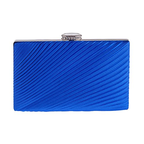 Royal Chain Wallet Clutch Detachable Evening Square with Hardbox Classic Pleated Dinner Women's qxwa0PAOvx