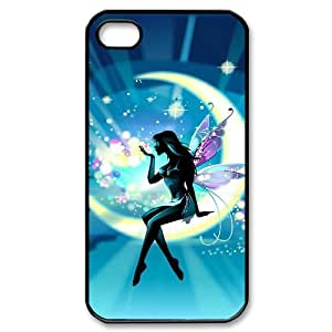 JFLIFE Fairy Phone Case for iphone4 Black Shell Phone [Pattern-6]