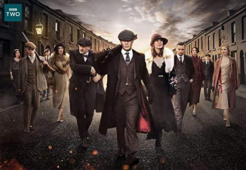Obtenga Motivación Peaky Blinders, un set de drama de crimen de televisión inglesa, Birmingham, Inglaterra, Cillian Murphy, Sam Neill, póster de 12 x 18 pulgadas