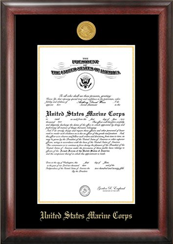 Campus Images Marine Certificate Frame with Gold Medallion, 10'' x 14''