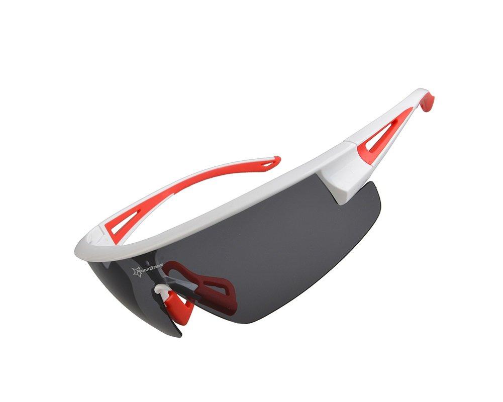HYSENM polarisierte Brille Sonnenbrille Sportbrille UV 400 fü r Radfahren Autofahren Motorradfahren Grü n