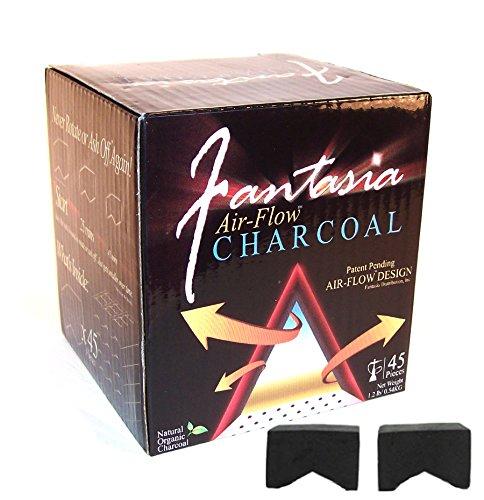 Fantasia Air-Flow Hookah Charcoal Natural Hookah Charcoal 45 PC by TEXAS HOOKAH