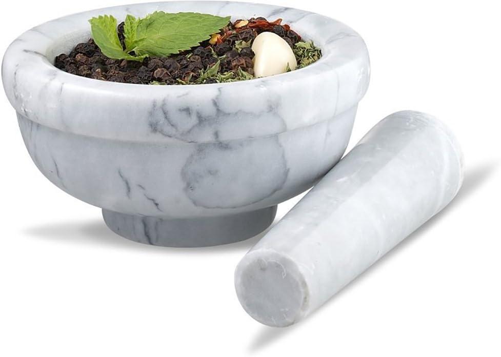 Sagler Marble Grey 3.75 inches diameter Mortar and pestle set