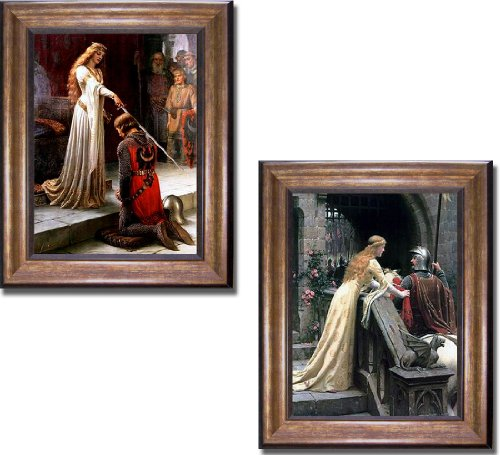 Artistic Home Gallery The Accolade & Godspeed by Edmund Leighton 2-pc Premium Bronze Gold Framed Canvas Set (Ready-to-Hang) from Artistic Home Gallery
