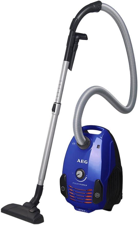 AEG APF6120 Aspirador con bolsa PowerForce Parketto AAA con cepillo especial para parquet, 700 W, 3.5 litros, 77 Decibelios, Azul: Amazon.es: Hogar