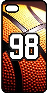 Basketball Sports Fan Player Number 98 Black Rubber Decorative iphone 6 4.7 Case