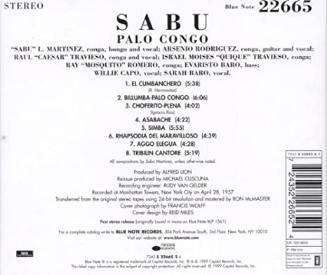 Palo Congo: Sabu: Amazon.es: Música