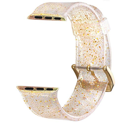 Sodoop Compatible for Apple Watch Bands 40(38) mm, Women Replacement Wristbands for iWatch Band, Glitter Bling Straps Bracelet Compatible for Apple Watch Series 4