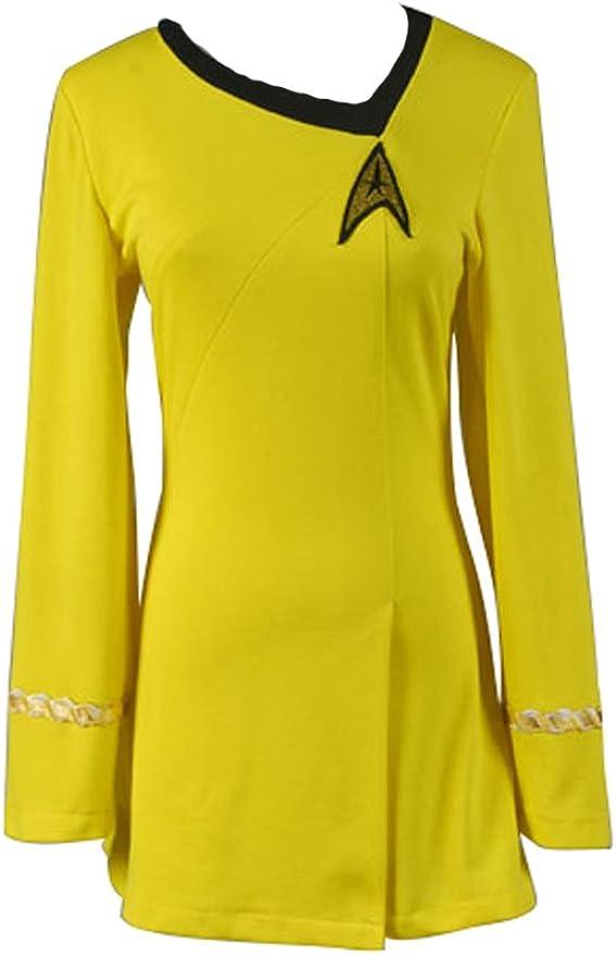 Daiendi Star Trek la UE hembra deber uniforme amarillo disfraz ...