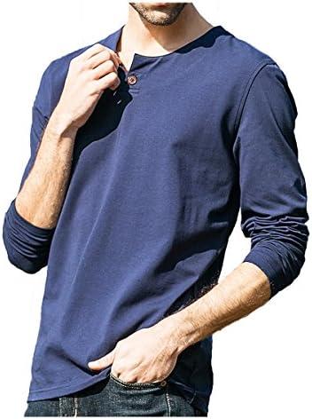 メンズ Vネック 長袖Tシャツ ロングシャツ クルーネックレイヤード無地半袖Tシャツ ヘンリーネック カットソー 522180