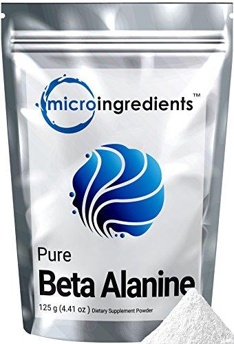 Micro Ingredients Pure Beta Alanine Powder, 125 grams