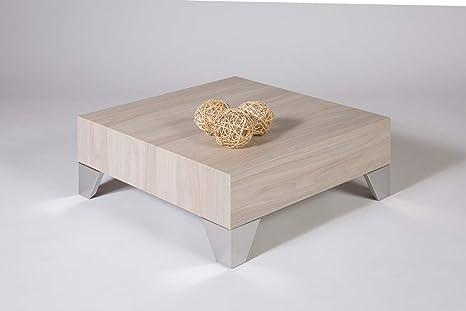 Tavolino basso da salotto olmo perla mod. evolution 60: amazon.it