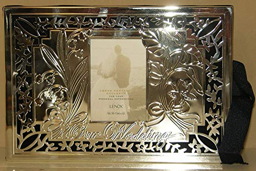Lenox Our Wedding 4 x 6 Photo Album Silver Plated Holds 80 Pictures