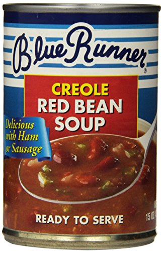 Beans Red Louisiana (Blue Runner—Creole Style Red Bean Soup—15 Ounce Can (Pack of 12)—A Flavorful and Authentic Creole Classic—Heat and Serve, or Add Meat)