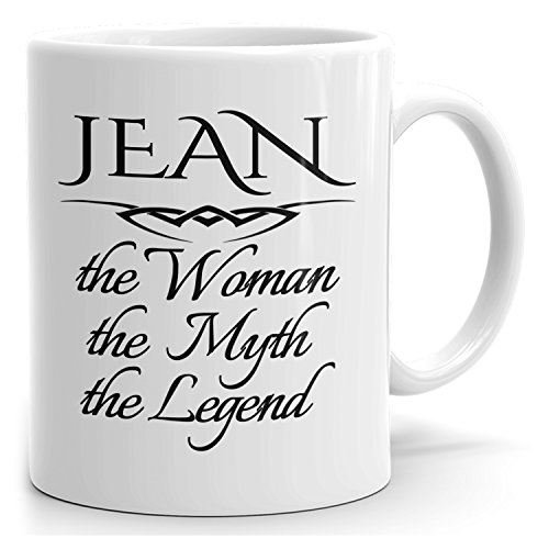 (MugMax The Woman the Myth the Legend D1 Ceramic Coffee Mug Personlized Jean White 15)