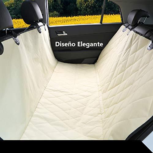 Pet Magasin Protector de asientos de coche para mascotas, de lujo, estilo hamaca - Funda de coche para perros impermeable, antiarañazos, antideslizante y ...