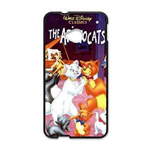 HTC One M7 Cell Phone Case Covers Black AristoCats O8Z7Y