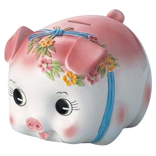 Piggy bank pig piggy bank (Extra Large) S-59A Pink (japan import)