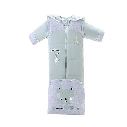 Saco de dormir para bebé, algodón anti-kick es grueso, saco de dormir