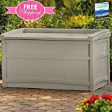 Outdoor Storage Containers For Deck With Lids Multifunctional Patio Seat Furniture Box Taupe Shed Pool Garden Outside Large Gardening Yard Chest Resin And eBook By NAKSHOP