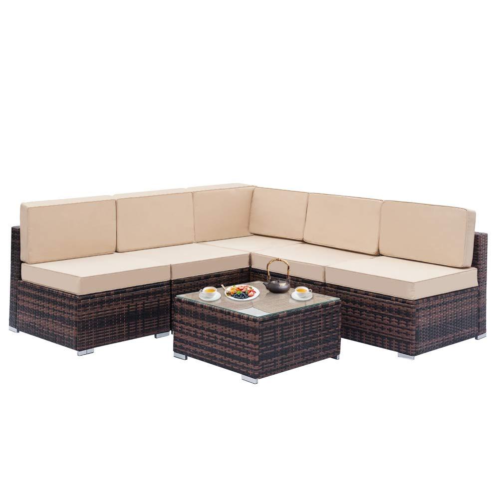 Amazon Com Chocity Fully Equipped Weaving Rattan Sofa Set