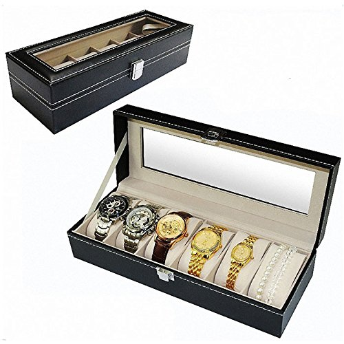 mefeir-6-slot-leather-watch-collection-box-display-case-organizer-glass-top-jewelry-storage