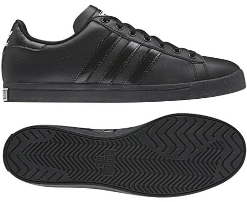 Adidas Originals Court Star Mens Trainers G60620 Sneaker Shoes (uk 11 us 11.5 eu 46, BLACK1/BLACK1/BLACK1)