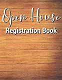 Open House Registration Book: 432 Entries Wooden Cover, Open House Log Book, Signatures, Sign In Book for Business, Guest Registry Book, Real Estate ... Homes, Property Developers, Interior Designer