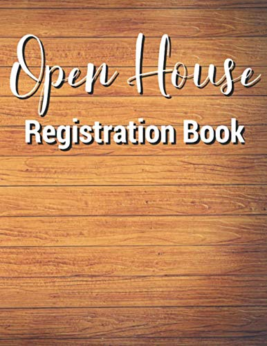 - Open House Registration Book: 432 Entries Wooden Cover, Open House Log Book, Signatures, Sign In Book for Business, Guest Registry Book, Real Estate ... Homes, Property Developers, Interior Designer